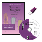 Garment Designer Windows version, Style Sets 1 & 2, pattern making software & knit design software