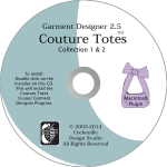 Garment Designer Mac version, Couture Totes Plug-In, pattern making software & knit design software