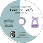 Garment Designer Couture Totes-pattern making software additional designs