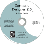 Garment Designer Macintosh version, Style Set 1, pattern making software & knit design software