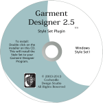 Garment Designer Style Set 1-pattern making software additional styles