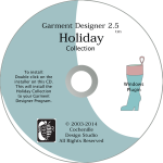 Garment Designer Holiday-pattern making software additional designs