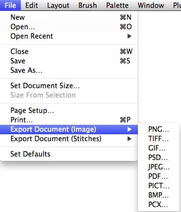 Export File Formats