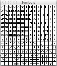 Symbols Panel