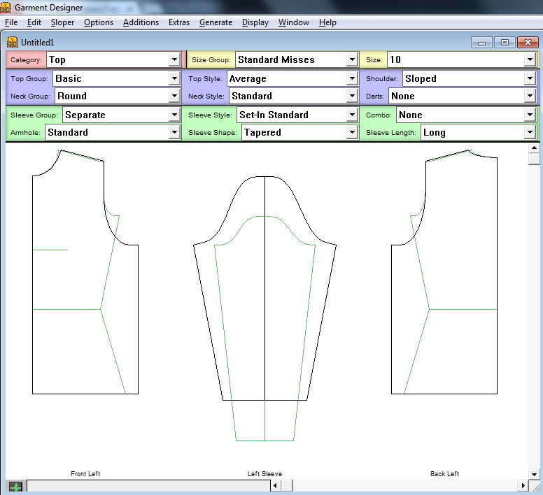 Garment Designer Screen Windows