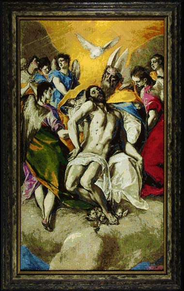 "Arthur Henry ""Trinity by El Greco"" Needlepoint on cotton DMC"