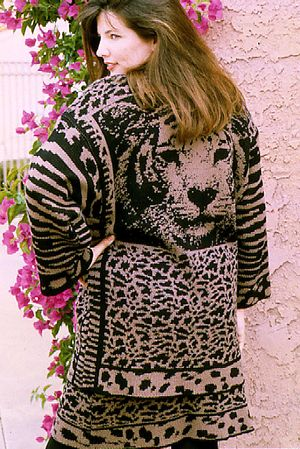 Wild Things - Machine Knit, Jacquard. Wool, rayon, acrylic yarn.