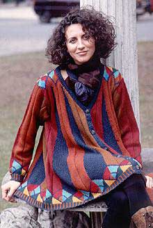 Maya Jacket - Hand knit, DK wool