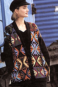Heirloom Sweater Jacket - Hand knit, Jo Sharp yarns