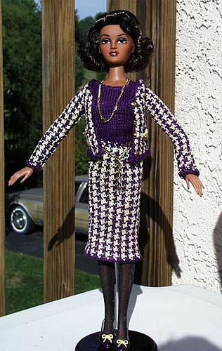 "Sandra Blade ""Chanel Suit for Violet Waters"" (Gene Doll) DMC #5 cotton"