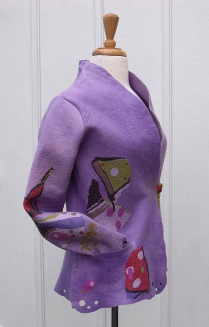 felted jacket pattern drafted with Garment Designer